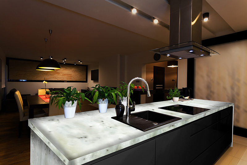 Onyx Countertops Colors : Chandler construction backlit stone sample materials and